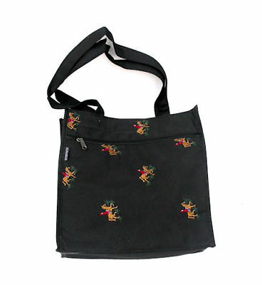 Horse & Western Horse Riding Tote Bag -  Black