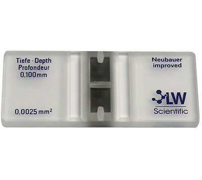 LW Scientific Blood Counting Hemocytometer New in Box