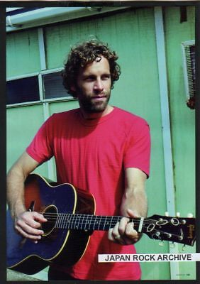 2011 JACK JOHNSON w/ guitar JAPAN mag PHOTO PINUP
