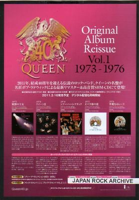 2011 QUEEN Album Reissue JAPAN PROMO mini poster AD