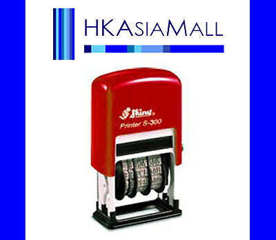 Shiny S300 Self-Inking Mini Dater Date Stamp RED Ink