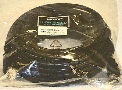 40' FT HDMI Gold 1.3b CABLE HDTV XBOX BLURAY DVD LCD