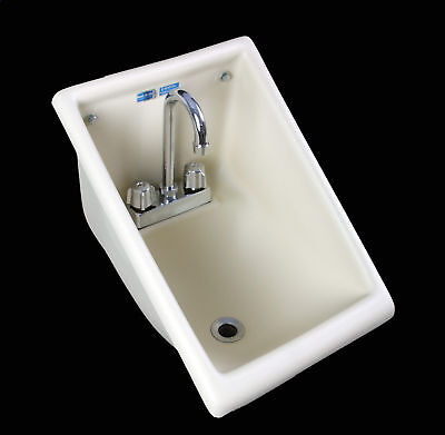 NSF USA Commercial Restaurant Hand Wash SINK Wall Mounted w/ FAUCET & CO-Plug