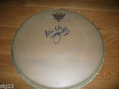 """Mick Jones Foreigner Clash Signed Remo 12"""" Drumhead"""