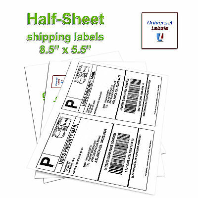 300 Shipping Labels for Postage sites. Ebay, Click N Ship, UPS, Paypal -USA MADE