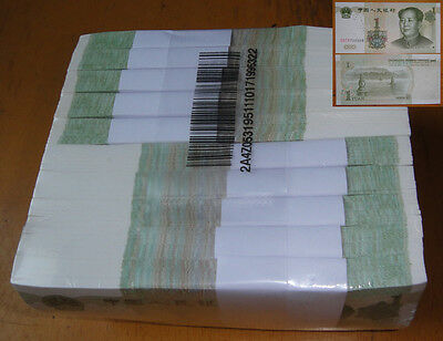 1000 Pieces China 1999 Banknote 1 Yuan Unc Free Shipping