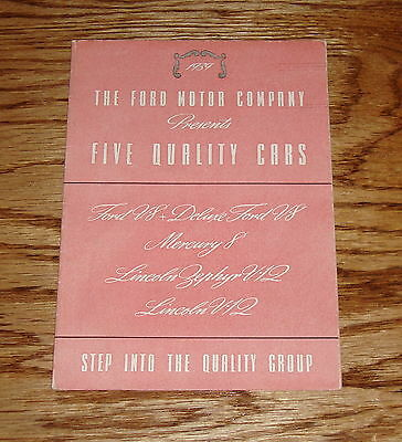 Original 1939 Ford Five Quality Cars Brochure Mercury Lincoln 39