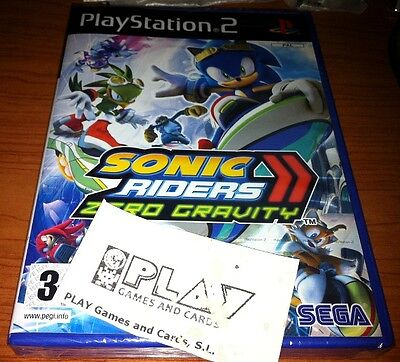 Sonic Riders Zero Gravity Nuevo Ps2 Playstation 2 Pal España Sealed Entrega 24H