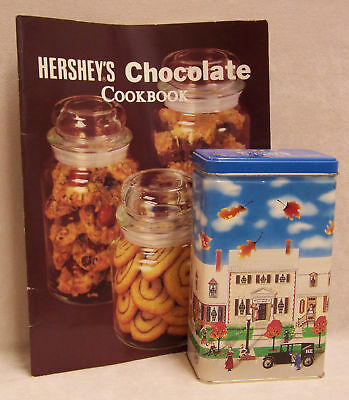 Cookbook Hershey Chocolate Cookbook & Kisses Tin Canister