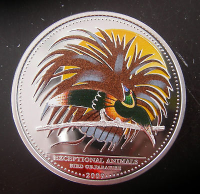 BIRD of PARADISE SILVER PROOF COLOR COIN PALAU 2009 CERTIFICATE of AUTHENTICITY