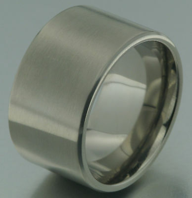 1 Titanring 14 mm breit Titan Ring Partnerring Trauring