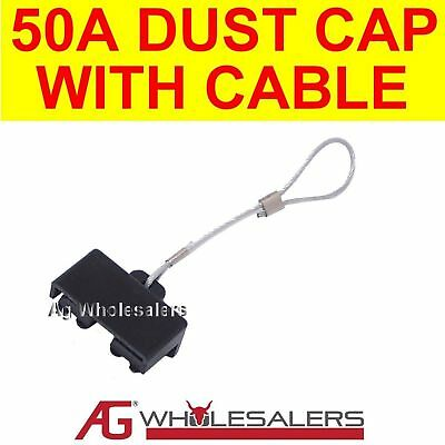 DUST CAP WITH CABLE - ANDERSON PLUG CONNECTOR 50 AMP 50a