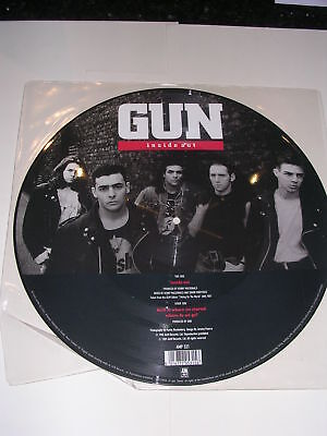 "GUN - Inside Out - Scarce 1989 UK 12"" PICTURE disc"