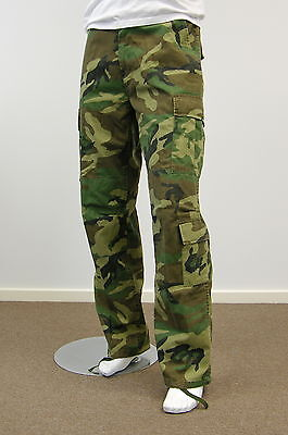 Mens Army Military Hunting Camping Cargo Pants  -Woodland Camo size 30 - 42