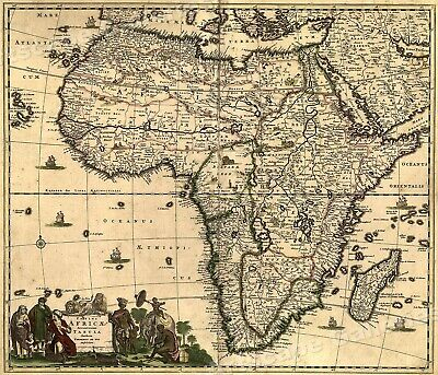 1688 Africa and the Mediteranean Vintage Style Wall Map - 20x24