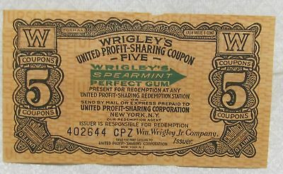 Wriggly and United Cigar Coupons