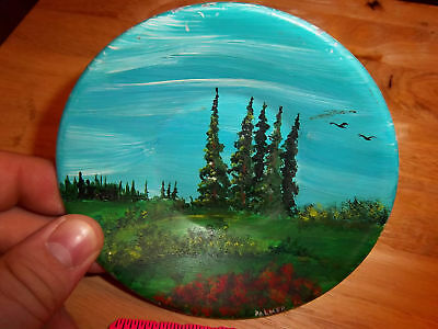 Hand Painted Alaska Gold Pan 5 inches across Beautiful!