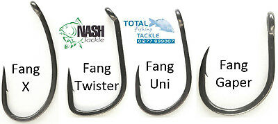 Nash Fang X, Twister, Twister Chod, Gaper & Uni Hooks *All Sizes & Types*