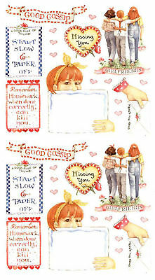 3 Sheets SUSAN Branch IVY BOOK Plate Scrapbook Stickers