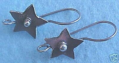 MS: Funky Star Earwires One (1) Pair Bali Sterling Silver Fair Trade