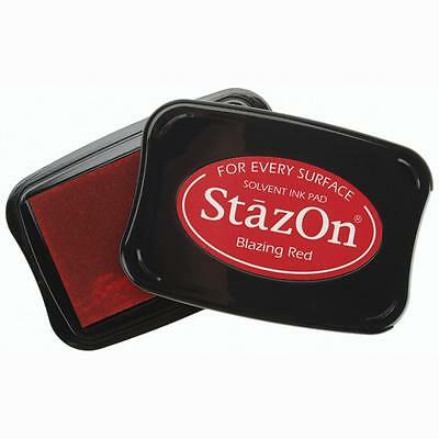 Stazon Solvent Ink Pad - Multisurface Use - Uk: Free P&p On Additional Inkpads
