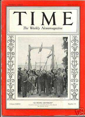 MAGAZINE TIME  French Strikers   JUNE 22 1936