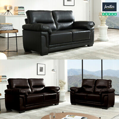 SALE NEW LUXURY Faux Leather Passero 3+2+1 Seater Sofas in Black Red White Brown