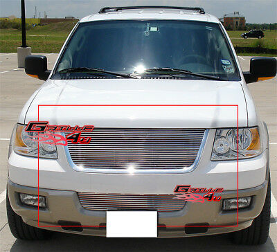 Fits 03-06 Ford Expedition Billet Grille Combo Upper+Bumper