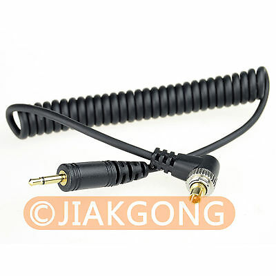 2.5mm-Male FLASH PC Sync Cable fo CANON 7D 5D II 1D 1DS