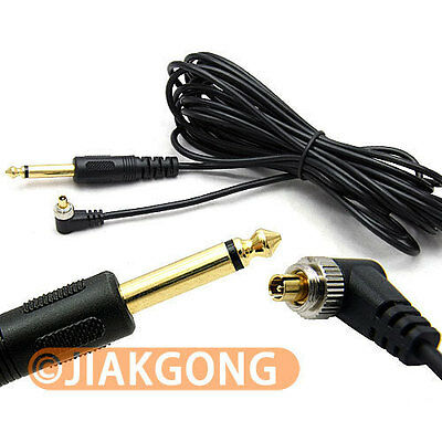 DSLRKIT 5M 16ft 6.35mm to Male PC Sync FLASH Cable w Screw Lock