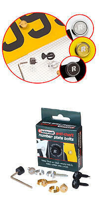 Anti Theft Number Plate Bolts Screws Fixings Richbrook
