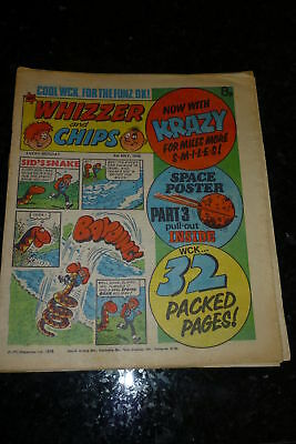 Whizzer & Chips with Krazy Comic - Date 06/05/1978 - With Space Chart