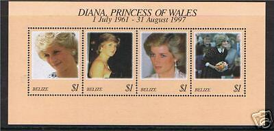 Belize 1998 Diana Commemmoration M.S.SG1226 MNH