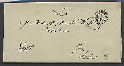 "Brief mit Fingerhutstempel ""Magdeburg"" 1.10.1836"