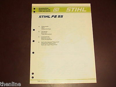 STIHL FE 55 Spare Parts List-Illustrated Parts Manual