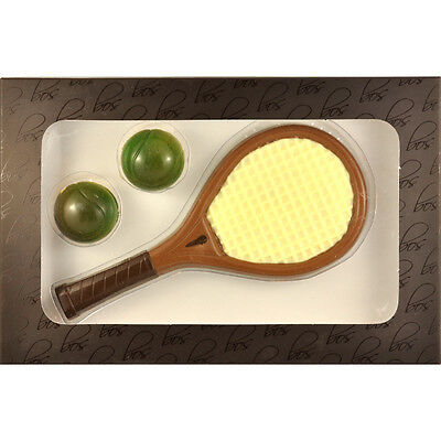 Chocolate Tennis Racquet Set - Chocolate Novelty Boxed Gift