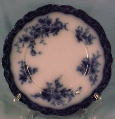 TOURAINE FLOW BLUE LUNCHEON PLATE Stanley Pttry As Is 4