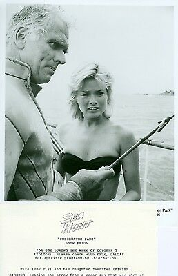Kimber Sissons Busty Ron Ely Sea Hunt Orig '89 Tv Photo