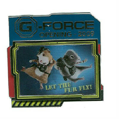 G-FORCE OPENING DAY PIN 2009 Disney Agents Juarez Darwin DLR LE2500 Hamster NEW