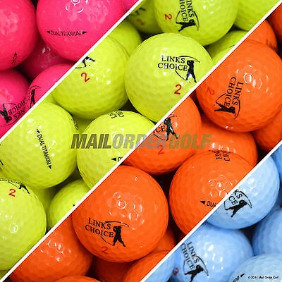 Coloured Golf Balls NEW High Vis Colours - Yellow Pink Orange Blue Bright Optic
