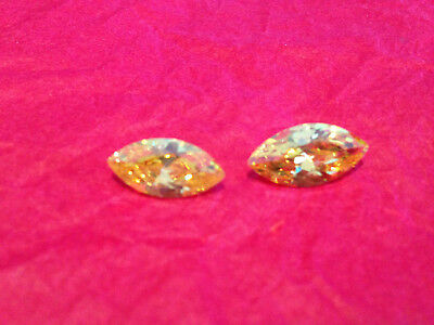 HUGE 5 Ct Russian Simulated MARQUISE CUT LAB YELLOW ONE (17 mm x 9 mm)