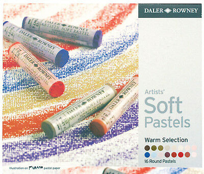 Daler Rowney Soft Chalk Pastel Set - 16 Warm Shades