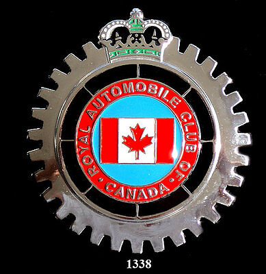 CAR GRILLE EMBLEM BADGES - CANADIAN AUTO CLUB