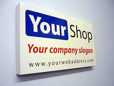 Shop Front Sign Tray Folded Alu Composite Any Size