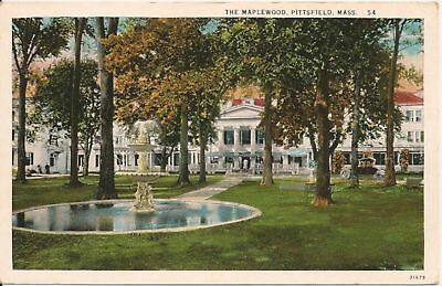 The Maplewood Pittsfield MA Postcard