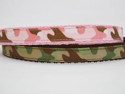 Green or Pink Camouflage Cat Kitten Safety Collar