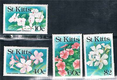 St Kitts 1991 Flowers SG 330/3 MNH