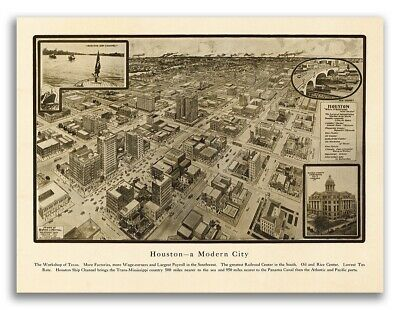 1906 Oakland 20x28 MD Vintage Old Panoramic City Map
