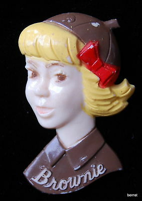 Vintage Girl Scout  Plastic Brownie Pin This One's Nice