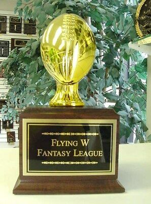 Fantasy Football Perpetual Trophy 16 Years Gold New!